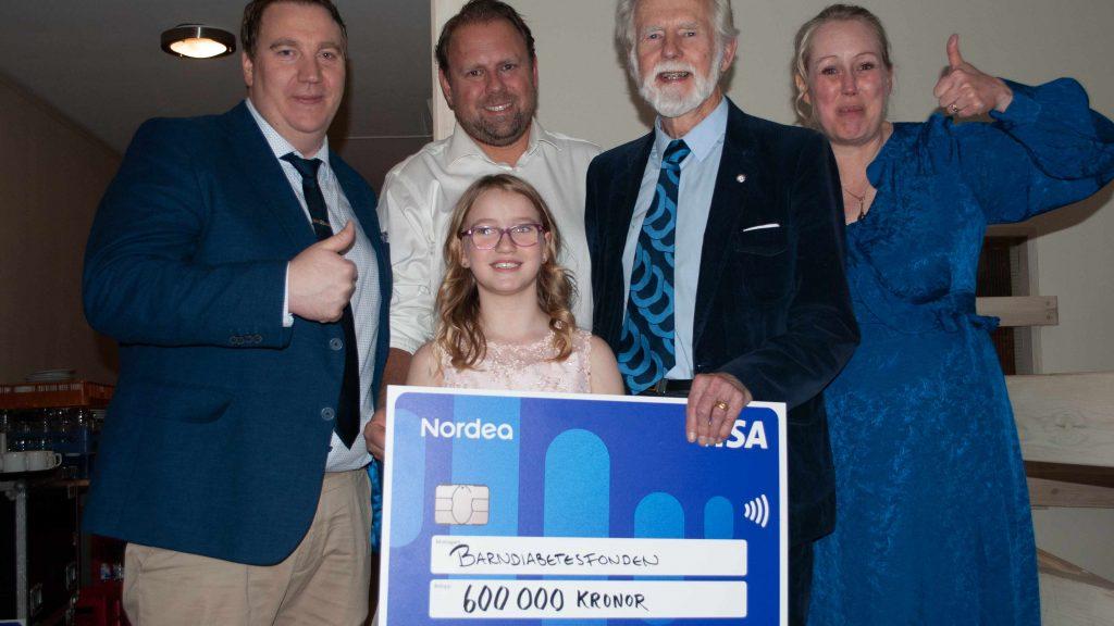 600 000 kr till Barndiabetsfonden