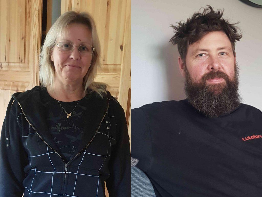 Henke och Susanne före förvandling